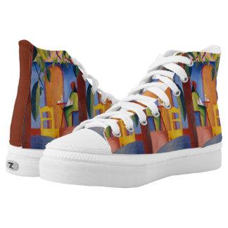 """Turkish Café"" Art high top shoes"