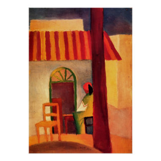 Turkish Cafe by August Macke Poster