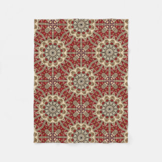 Turkish carpet kaleidoscope fleece blanket