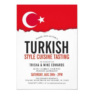 Turkish Cuisine | Party Flag White Invite