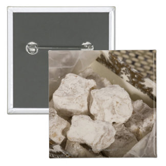 Turkish Delight (locum) is a sweet candy from Ista 15 Cm Square Badge
