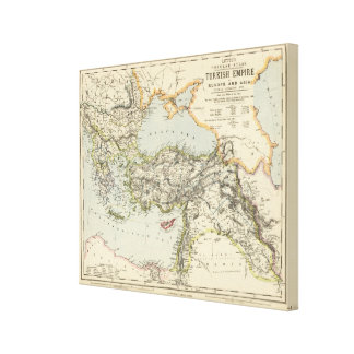 Turkish Empire, Greece, Romania Canvas Print