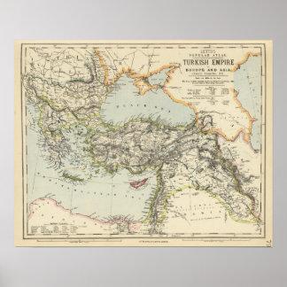 Turkish Empire, Greece, Romania Poster