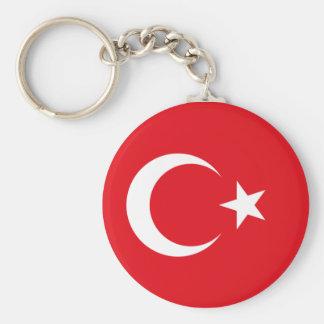 Turkish Flag Basic Round Button Key Ring