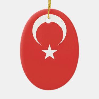 Turkish Flag Christmas Ornament