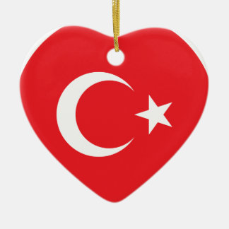 Turkish Flag Circle Christmas Ornament