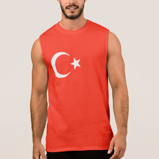 Turkish Flag Crescent Moon And Star Sleeveless Shirt