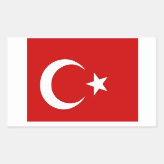 Turkish Flag Rectangular Sticker