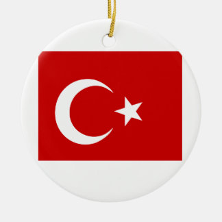 Turkish Flag Round Ceramic Decoration