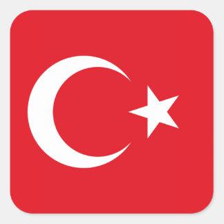 Turkish Flag Square Sticker