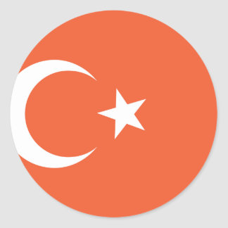 Turkish Flag Round Sticker