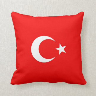 Turkish Flag Throw Pillow