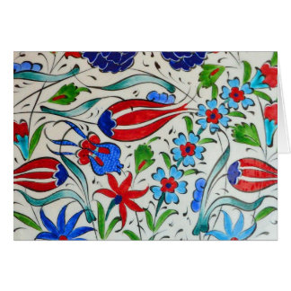 Turkish floral design card