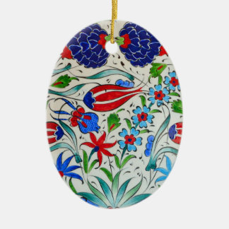 Turkish floral design christmas ornament