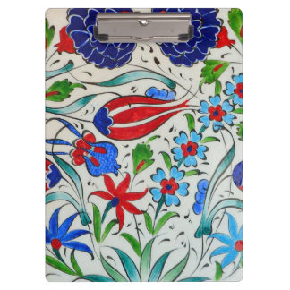 Turkish floral design clipboard