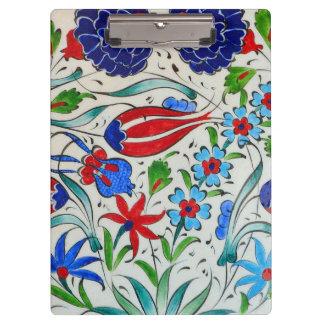 Turkish floral design clipboards