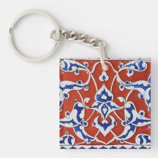 Turkish floral tiles key ring