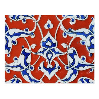 Turkish floral tiles postcards