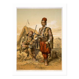 Turkish foot soldiers in the Ottoman army, pub. by Postcard