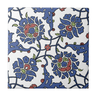 Turkish garden flower composition 1 small square tile
