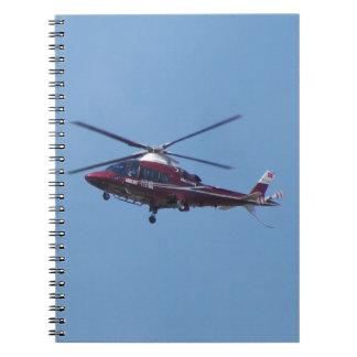 Turkish helicopter ambulance. notebook