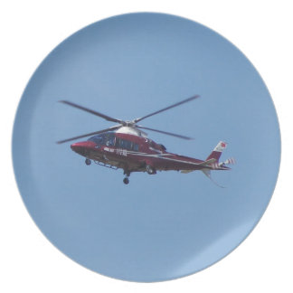 Turkish helicopter ambulance. plate