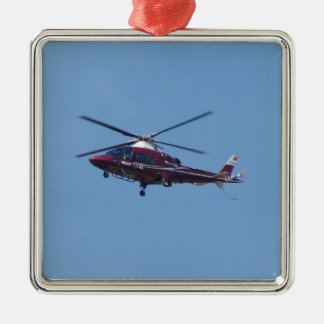 Turkish helicopter ambulance. Silver-Colored square decoration