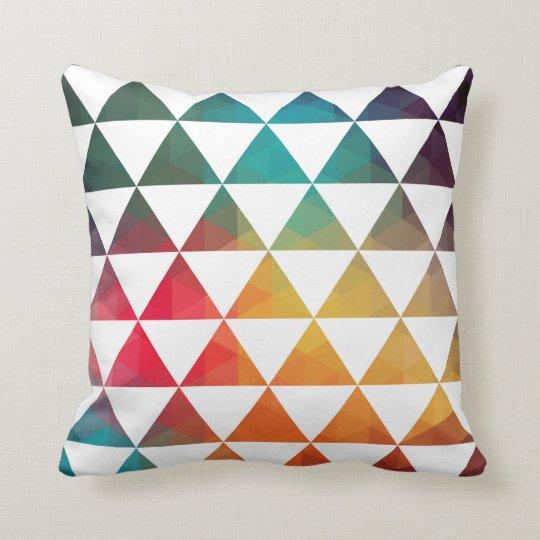Turkish Inspired Colourful Geometric Pattern 3a Cushion