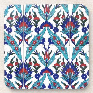 Turkish Iznik Floral Pattern Coaster