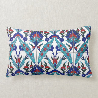 Turkish Iznik Floral Pattern Lumbar Cushion