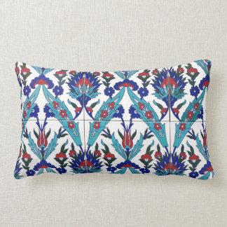 Turkish Iznik Floral Pattern Lumbar Pillow
