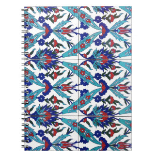 Turkish Iznik Floral Pattern Notebook