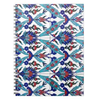 Turkish Iznik Floral Pattern Notebooks