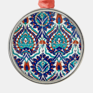 Turkish Iznik Ottoman Floral Design Pattern Christmas Ornament