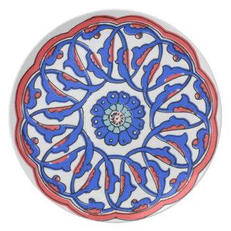 Turkish Iznik Ottoman Plate