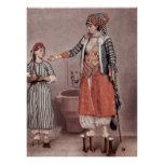 Turkish lady with maid by Jean-Etienne Liotard Posters