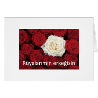 TURKISH LOVE 'You're the man of my dreams' Greeting Card