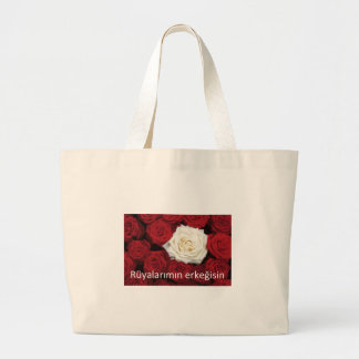 TURKISH LOVE 'You're the man of my dreams' Large Tote Bag