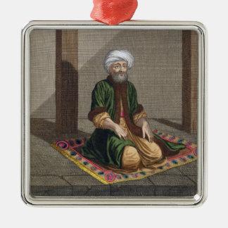 Turkish Man, praying, 18th century (engraving) Christmas Ornament
