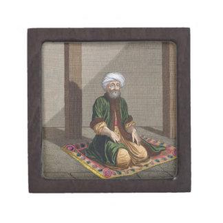 Turkish Man, praying, 18th century (engraving) Premium Trinket Box
