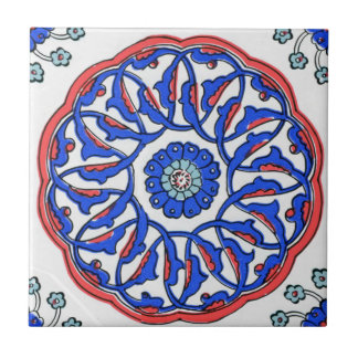 Turkish Mandala Pattern Small Square Tile
