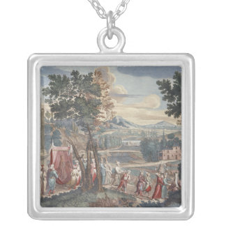 Turkish marriage procession, 1712-13 silver plated necklace