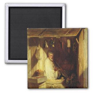 Turkish Merchant Smoking in his Shop, 1844 Magnet