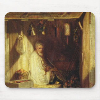 Turkish Merchant Smoking in his Shop, 1844 Mouse Mat