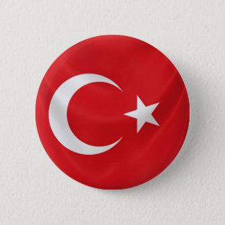 turkish national flag 6 cm round badge