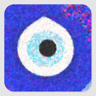 Turkish Nazar Evil Eye Design Square Sticker