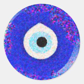 Turkish Nazar Evil Eye Design Round Sticker