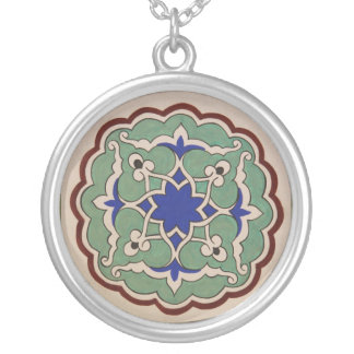 Turkish Ottoman style Silver Plated Necklace