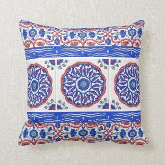 Turkish Ottoman Tile Design Throw Pillow