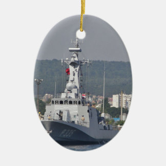 Turkish Patrol Boat Ceramic Oval Decoration